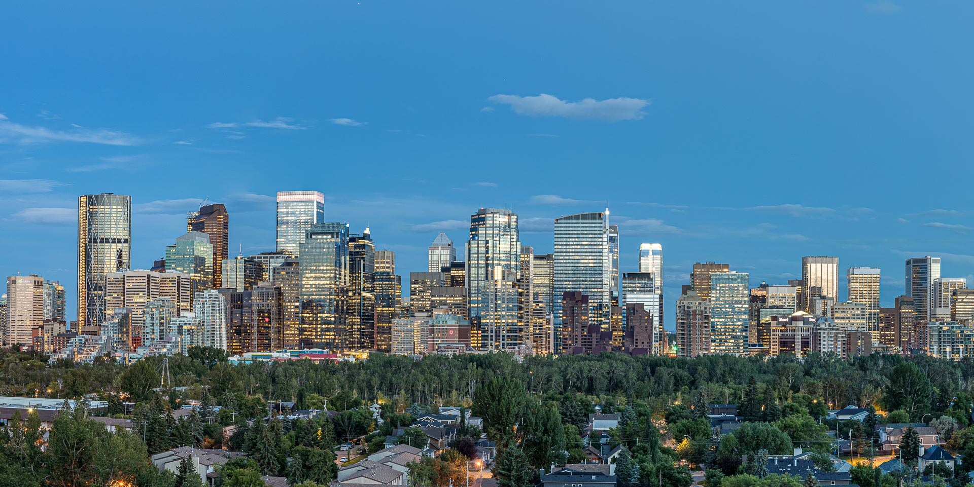 Calgary Real Estate Photography - Downtown Skyline