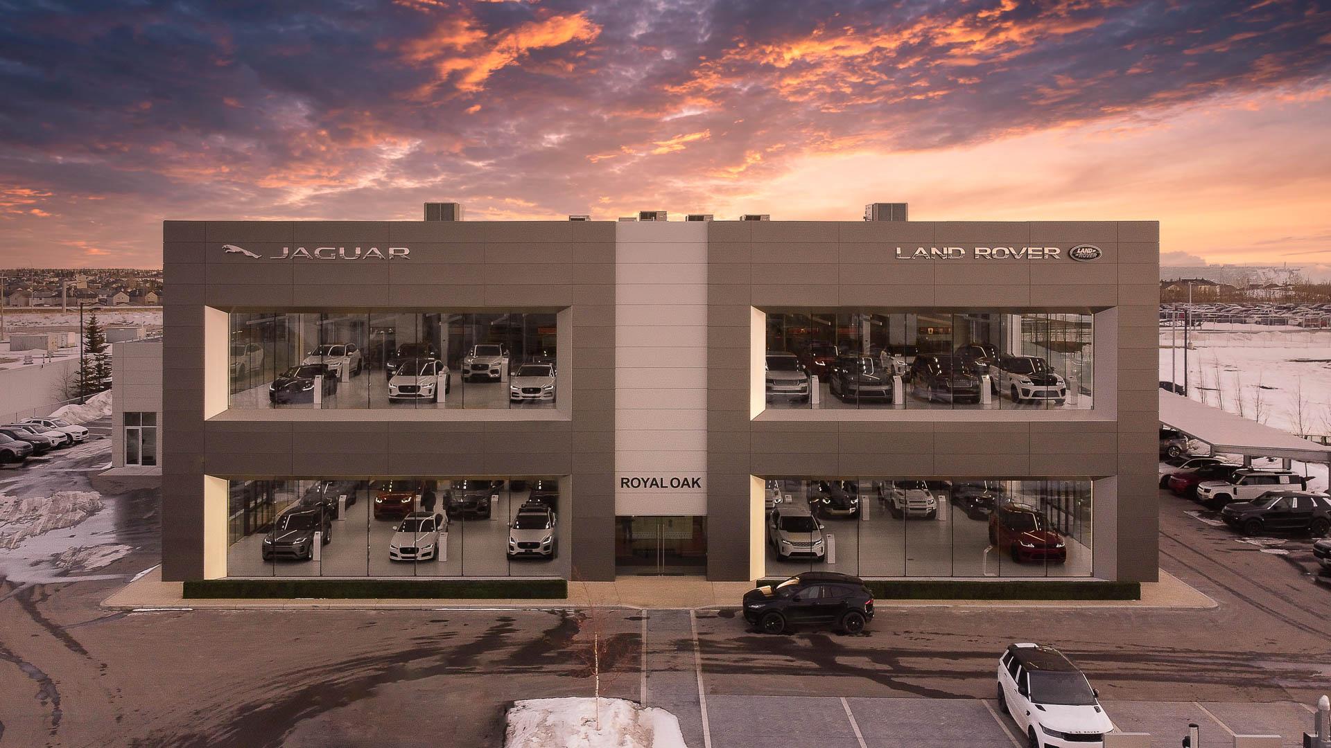 Real Estate Drone Photography - Jaguar Land Rover Royal Oak